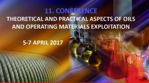 The Conference on Oils and Operating Materials